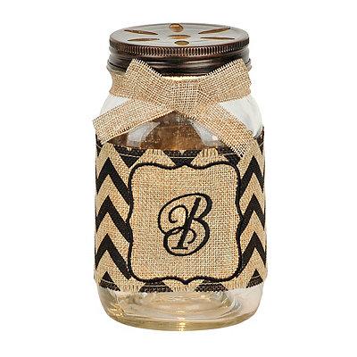 Mason Jar Monogram B Night Light