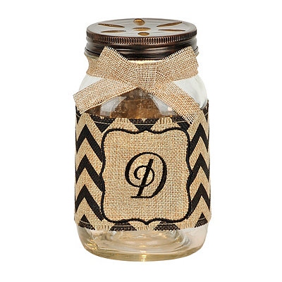 Mason Jar Monogram D Night Light