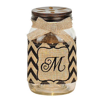 Mason Jar Monogram M Night Light