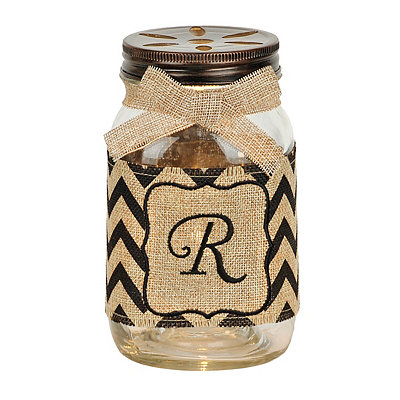 Mason Jar Monogram R Night Light