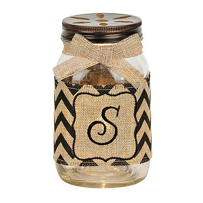 Mason Jar Monogram S Night Light