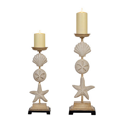 Coastal Details Candlesticks, Set of 2