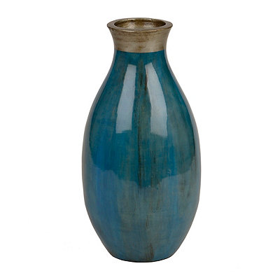 Tapered Turquoise Floor Vase