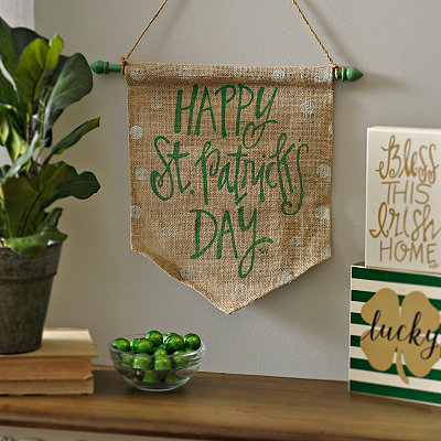 Happy St. Patrick's Day Burlap Banner