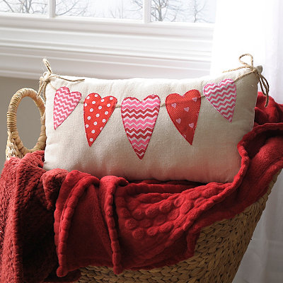 Valentine's Hearts Accent Pillow