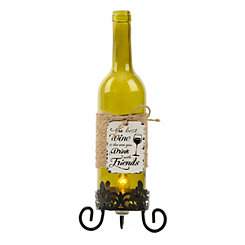 Green Wine Bottle Night Light