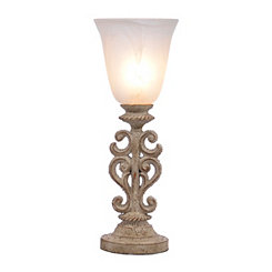 Scavo Ivory Carved Uplight