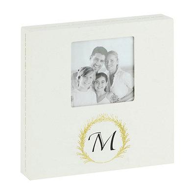 Laurel Monogram Picture Frame, 4x4