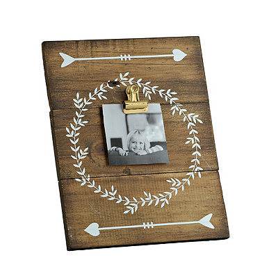 Laurel Wood Plank Clip Picture Frame