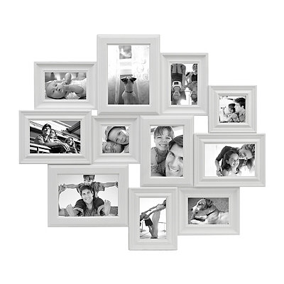 White 11-Opening Collage Frame