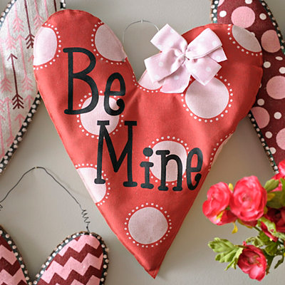 Burlap Be Mine Heart Wall Hanger