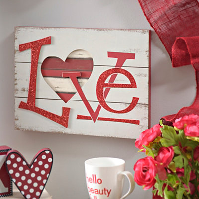 Sparkling Love Wall Plaque