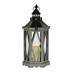 Dark Gray Diamond Dome Lantern