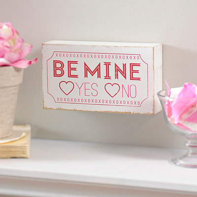Be Mine Word Block