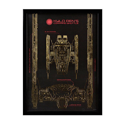 Star Wars Kylo Ren Shuttle Shadowbox
