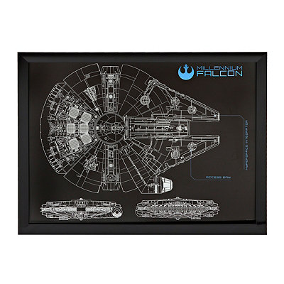 Star Wars Millenium Falcon Shadowbox