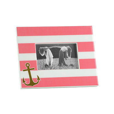 Pink and White Anchor Picture Frame, 4x6