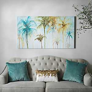 Watercolor Palms Canvas Art Print