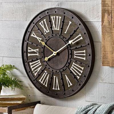Trenton Rustic Clock
