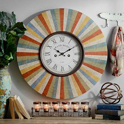 Madrid Colors Clock