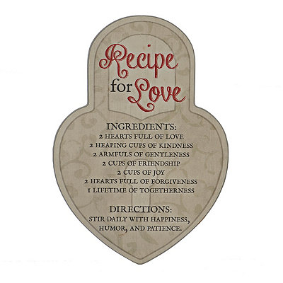 Recipe for Love Locket Wooden Plaque