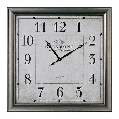 Square Silver Clock