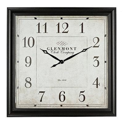 Square Bronze Clock