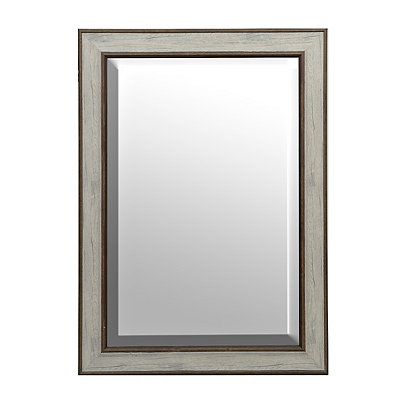 White Driftwood Framed Mirror, 31x43 in.