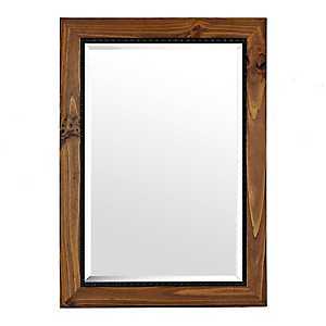 Barnwood Oak Framed Mirror, 31x43 in.