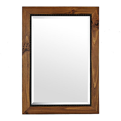 Barnwood Oak Framed Mirror, 31x43 in.