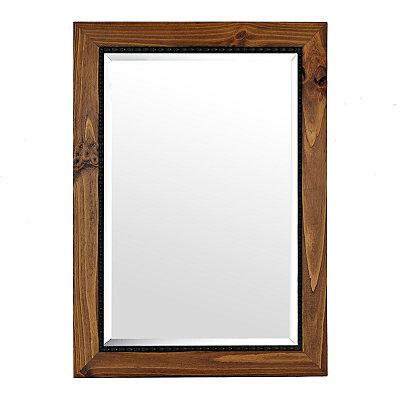 Barnwood Oak Framed Mirror, 31x43