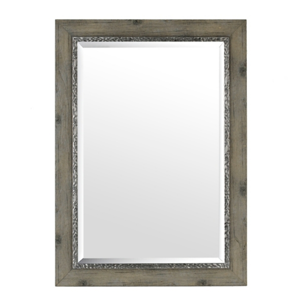 Bathroom Mirrors Kirklands weathered gray framed mirror, 31x43 | kirklands