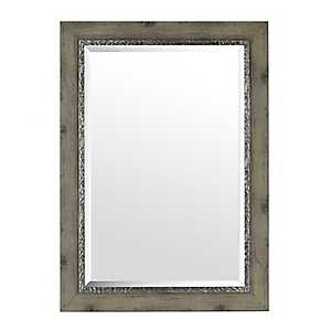 Weathered Gray Framed Mirror, 31x43