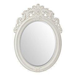 Distressed White Venetian Mirror