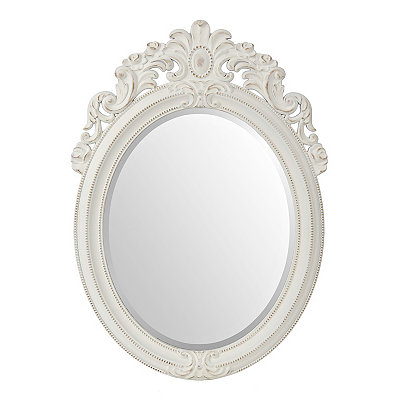Distressed White Venetian Mirror