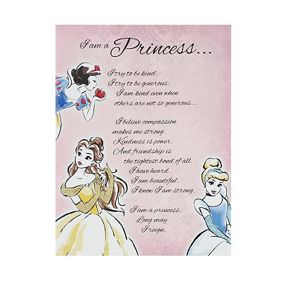 I am a Disney Princess Canvas Art Print