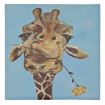 Mischief Giraffe Canvas Art Print
