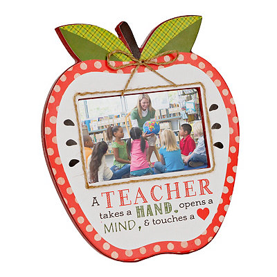What a Teacher Does Apple Picture Frame, 4x6