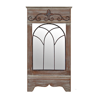 Camryn Rustic Window Pane Mirror, 18.75 x 34.5