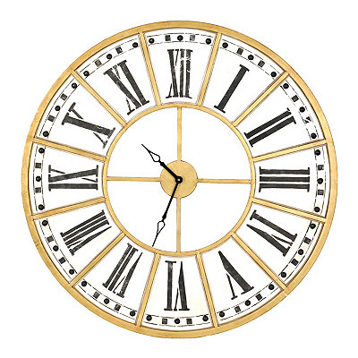Golden Hour Metal Clock