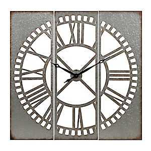 Cutout Galvanized Metal Clock