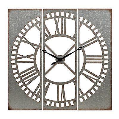 Cutout Galvanized Metal Clock