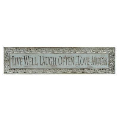 Turquoise Live, Laugh, Love Metal Plaque