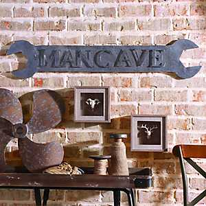 Man Cave Wrench Plaque