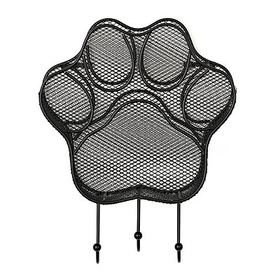 Black Metal Paw Basket with Hooks