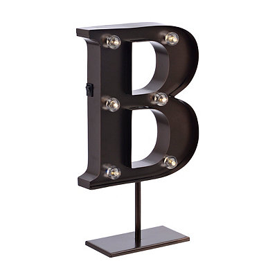 Bronze Monogram B LED Metal Statue