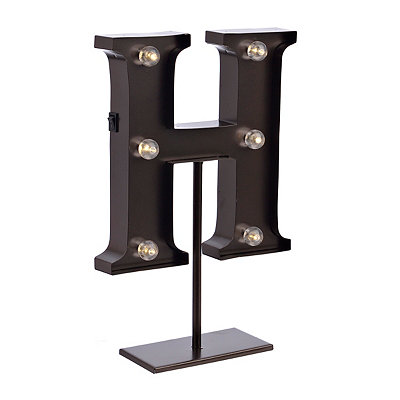 Bronze Monogram H LED Metal Statue