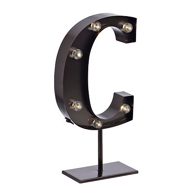 Bronze Monogram C LED Metal Statue