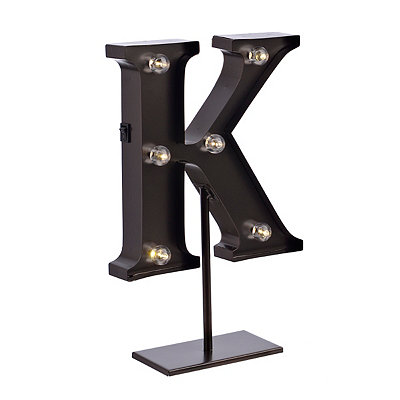 Bronze Monogram K LED Metal Statue