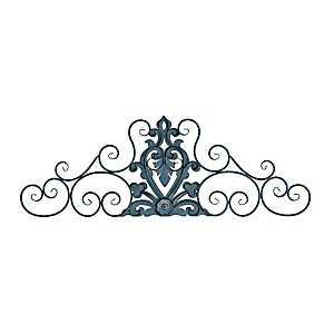Nila Blue Scroll Metal Plaque